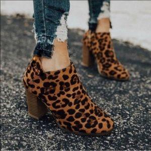 SHARI Leopard Booties!